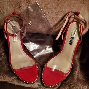 Beautiful red Liliana Holiday Party Heels 8 1/2